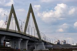 Мост Миллениум, вид с левого берега Казанки