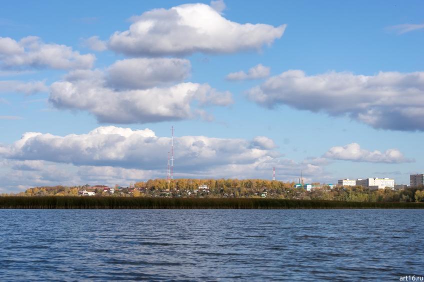 Казанка, вид на Советский район::Казань, осень, природа