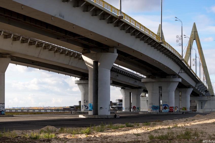 Мост Миллениум, октябрь 2016::Казань, осень, природа