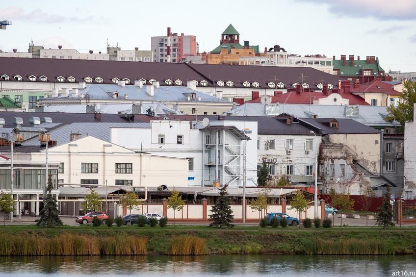 Фото №898680. Вахитовский район. Вид с ул. Ш.Марджани через озеро Нижний Кабан