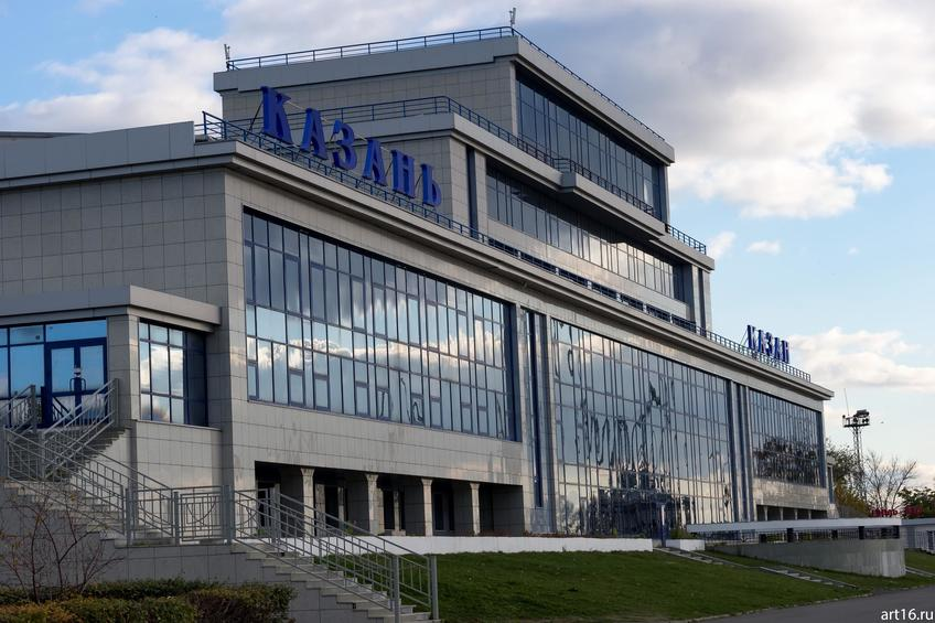 Здание Речного вокзала::Казань, осень, природа