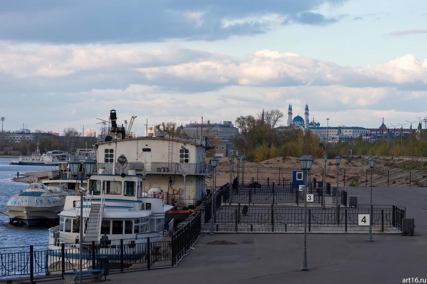 Речной порт. Вид на мечеть Кул Шариф::Казань, осень, природа
