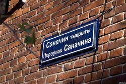 Информационная вывеска: переулок Саначина