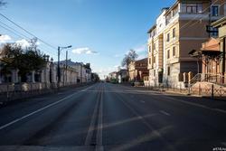 Вид на ул К. Маркса с перекрестка Муштари/К.Маркса. Октябрь 2016