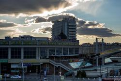 Закат над ТРК «Кольцо». Казань, Петербургская 1. Октябрь 2016