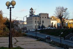 Вид  от памятника Вахитову на ул. Бутлерова. Казань, октябрь 2016