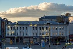 Вид  от памятника Вахитову на площадь Тукая. Октябрь 2016