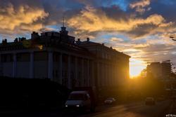Казань, закат, сумерки, ночь