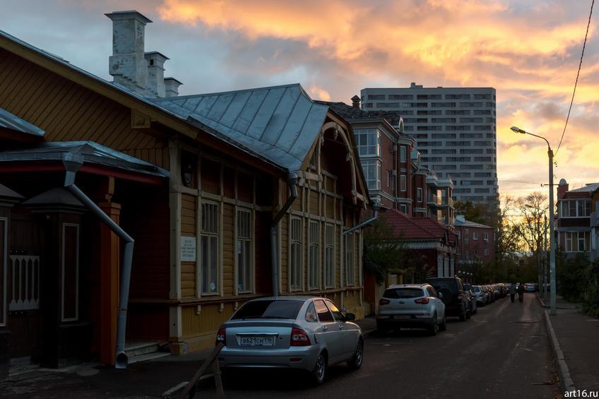 Катановский переулок, Казань::Казань, закат, сумерки, ночь