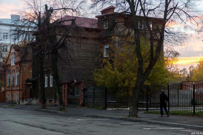 Улица Ульянова-Ленина, Казань::Казань, закат, сумерки, ночь
