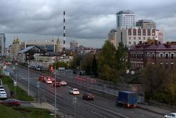 Вид  с горы (ул. Ульянова) на   улицу Тихомирнова