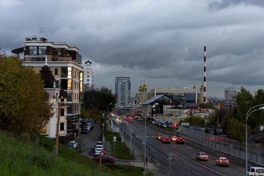 Ул. Тихомирнова, Казань::Казань, закат, сумерки, ночь