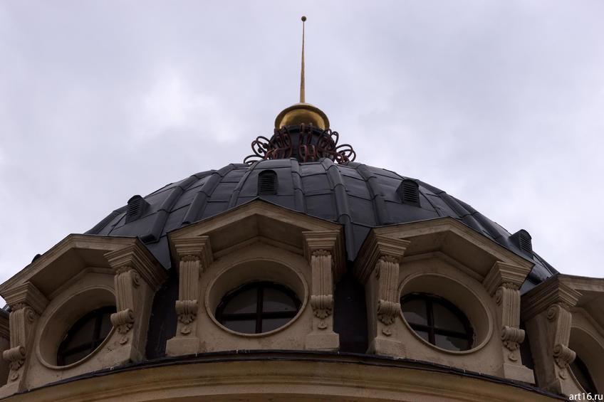 Ротонда на Петербургской, фрагмент; Казань::Казань, закат, сумерки, ночь