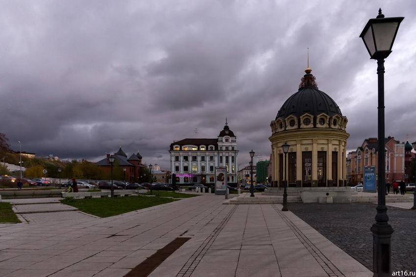 Ротонда на ул. Петербургской, Казань, сумерки::Казань, закат, сумерки, ночь
