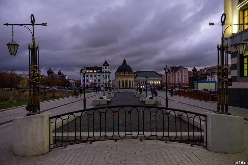 Ул. Петербургская, Казань, сумерки::Казань, закат, сумерки, ночь