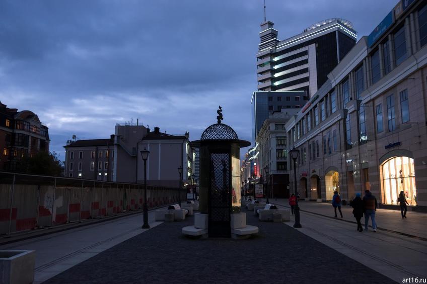 Фото №900230. Ул. Петербургская, Казань, сумерки
