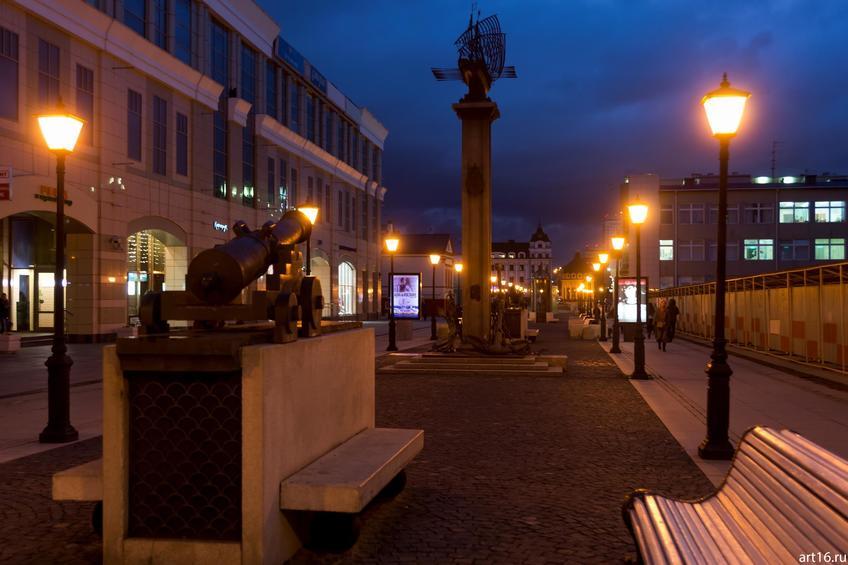 Ул. Петербургская, Казань::Казань, закат, сумерки, ночь