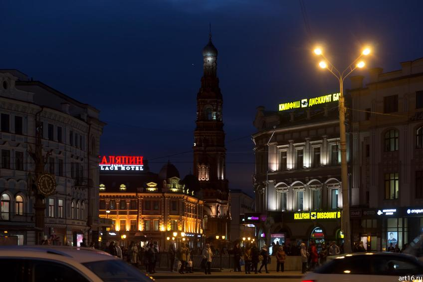 Фото №900250. Вид на колокльню Богоявленской церкви, ул. Баумана, казань