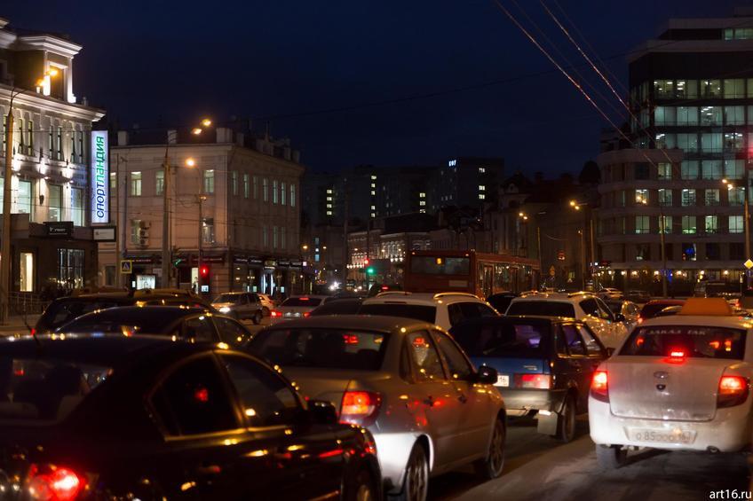 Час пик. Казань, Кольцо::Казань, закат, сумерки, ночь