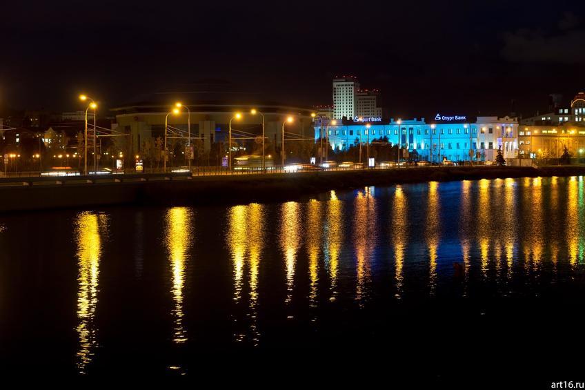 Фото №900266. Оз. Кабан ночью, Казань