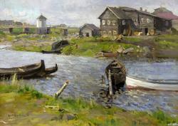 НА СЕВЕРЕ. 1899 Холст, масло. Коровин К.А.