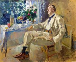 ПОРТРЕТ АРТИСТА ФЕДОРА ИВАНОВИЧА ШАЛЯПИНА (1873—1938). 1911 Холст, масло. Коровин К.А.
