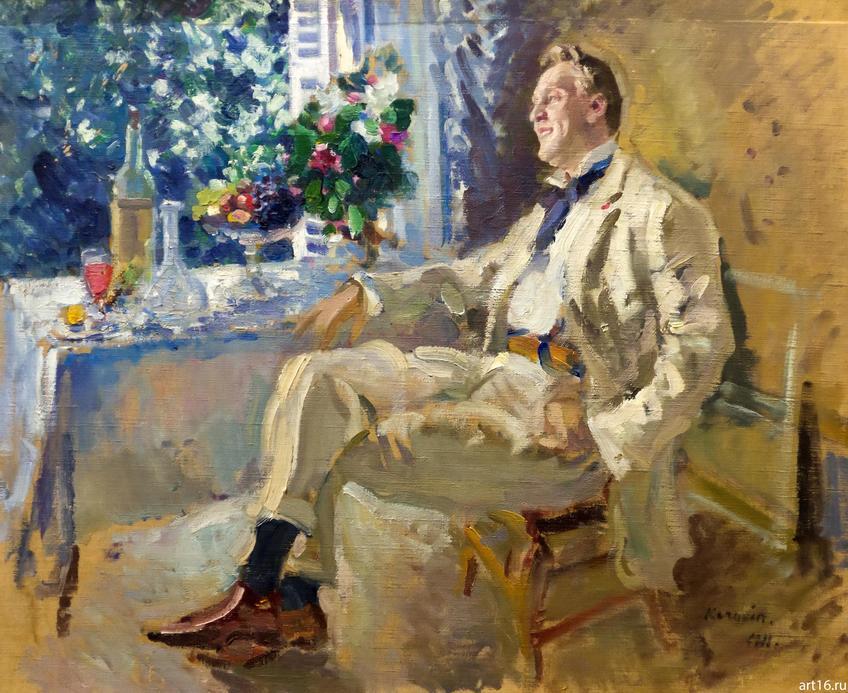 Фото №900598. ПОРТРЕТ АРТИСТА ФЕДОРА ИВАНОВИЧА ШАЛЯПИНА (1873—1938). 1911 Холст, масло. Коровин К.А.