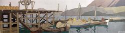 ПРИСТАНЬ И ФАКТОРИЯ НА МУРМАНЕ. 1899 Холст, темпера. Коровин К.А.
