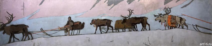 Фото №900634. ПОЕЗД САМОЕДОВ. 1899 Холст, темпера. Коровин К.А.