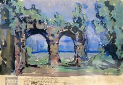 Эскиз декорации.1910. Коровин К.А.
