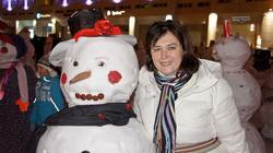 Е.Сунгатова и Снеговик