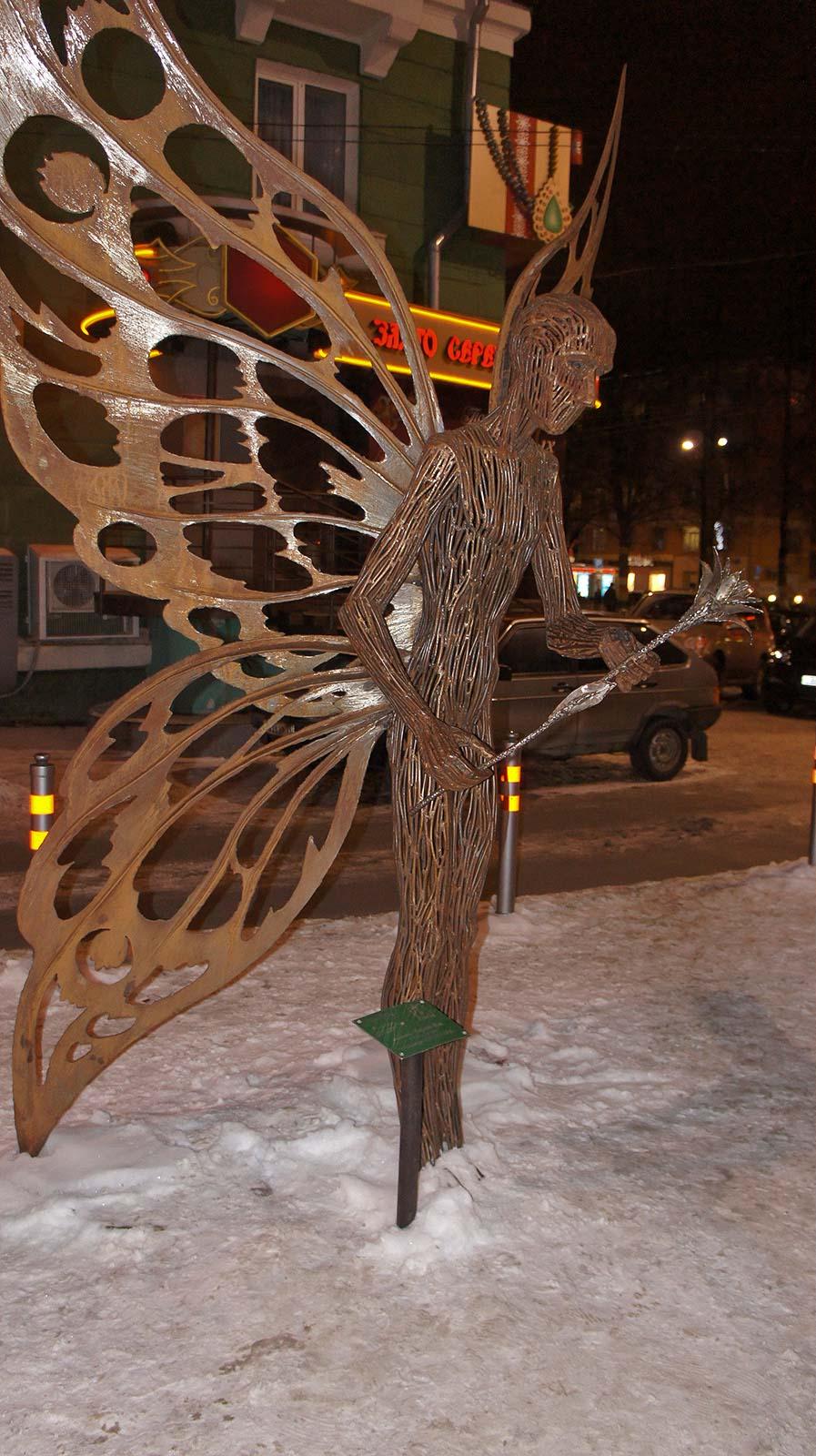 Фото №90383. Скульптура ''Мотылек''. Скульптор, Карлис Иле, г. Рига, Латвия