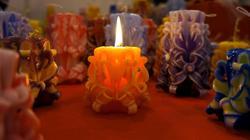Свеча горела на столе... Работа Натали Алексеенко