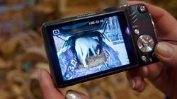 На фотоаппарате в руках Т.Колченоговой -  пони в машине