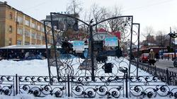 Фигурная решетка возле Пермского Арбата. Пермь, январь 2012