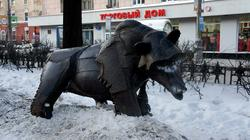 Скульптура: Медведь «Потапка». мастер Фонда скульпторов России «Единение» Александр Суворов