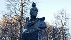 Памятник Борису Пастернаку. Театральный сквер. Пермь, январь 2012
