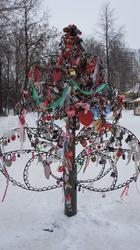 Свадебное дерево в парке им. Горького. Пермь, январь 2012