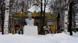 Бюст М.Горького в Парке его имени. Пермь, январь 2012