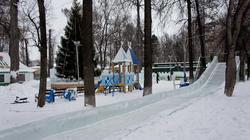 Ледяные горки в парке Горького. пермь, январь 2012