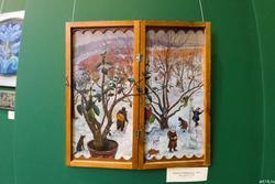Лариса Рябинина. Два дерева. 2003 Фанера, масло