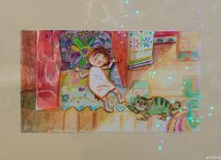 Елена Ермолина. 1969 Эскизы к мультфильму «Кому трудней» Бумага, карандаш