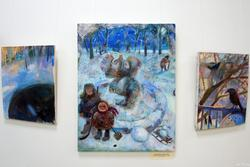 Елена Ермолина. 1969 Эрмитажка зимой. Триптих. 2008 Холст, масло