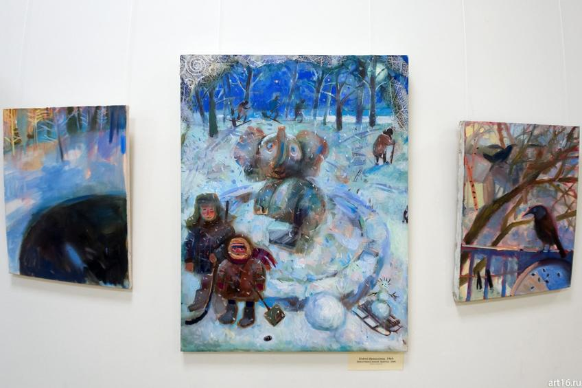 Фото №915539. Елена Ермолина. 1969 Эрмитажка зимой. Триптих. 2008 Холст, масло