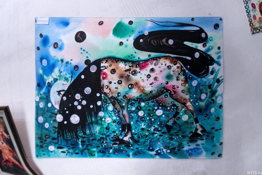 Фото №915647. Лошадь с черной гривой. А.Бусыгин