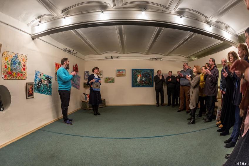 Открытие выставки Александра Бусыгина::Царь художников и все, все, все