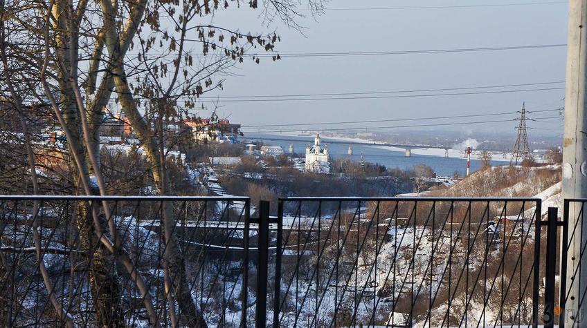 Фото №91784. Вид на Каму со смотровой площадки Планетария. Пермь. Январь 2012