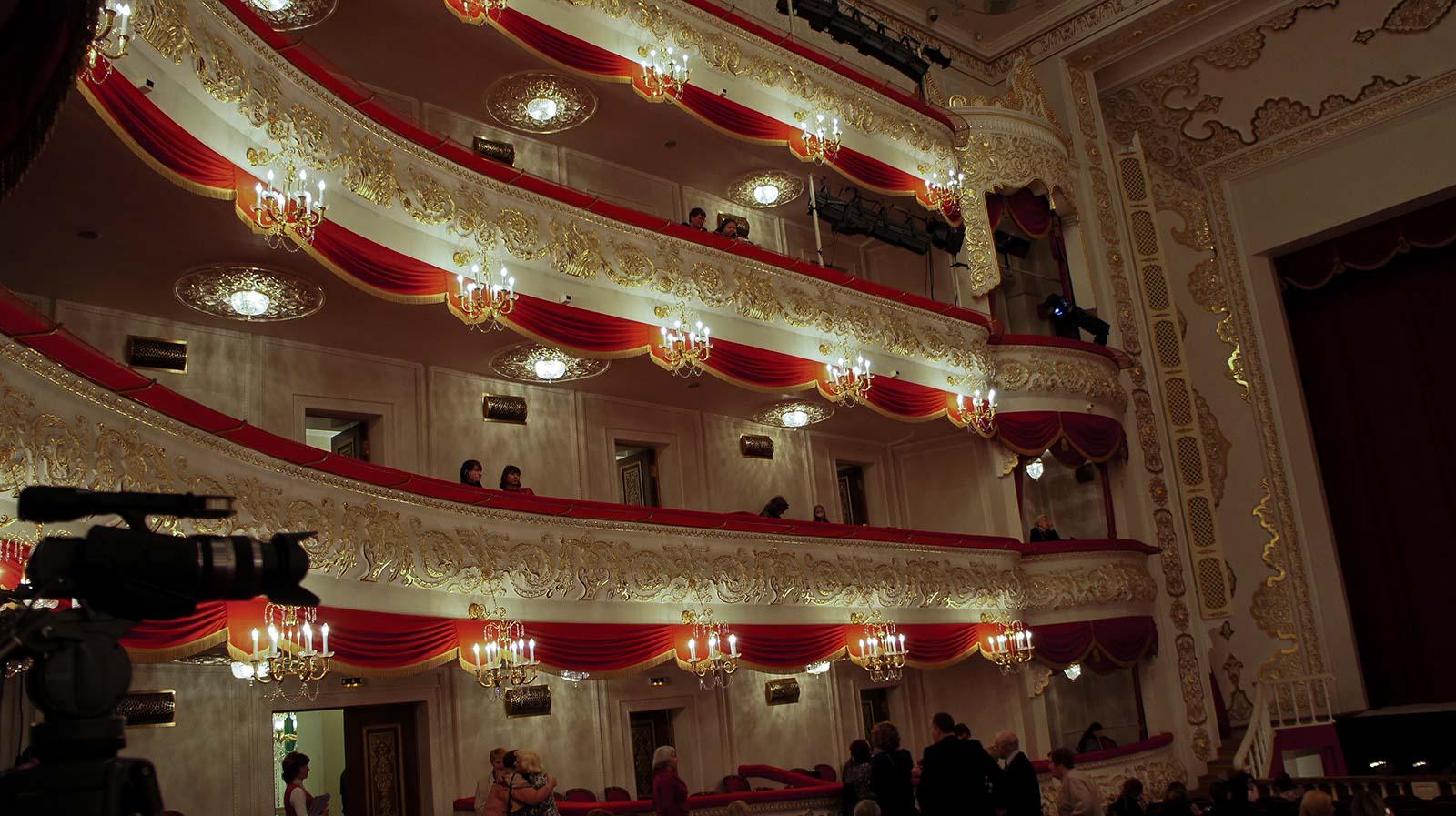 Вид на балконы и ложе тагтоиб им.м.джалиля (антракт).