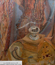Ольга РЕХАЧЕВА, Архангельск, 1965. «Натюрморт с кофейными зернами», 2005, х.м.,54x48
