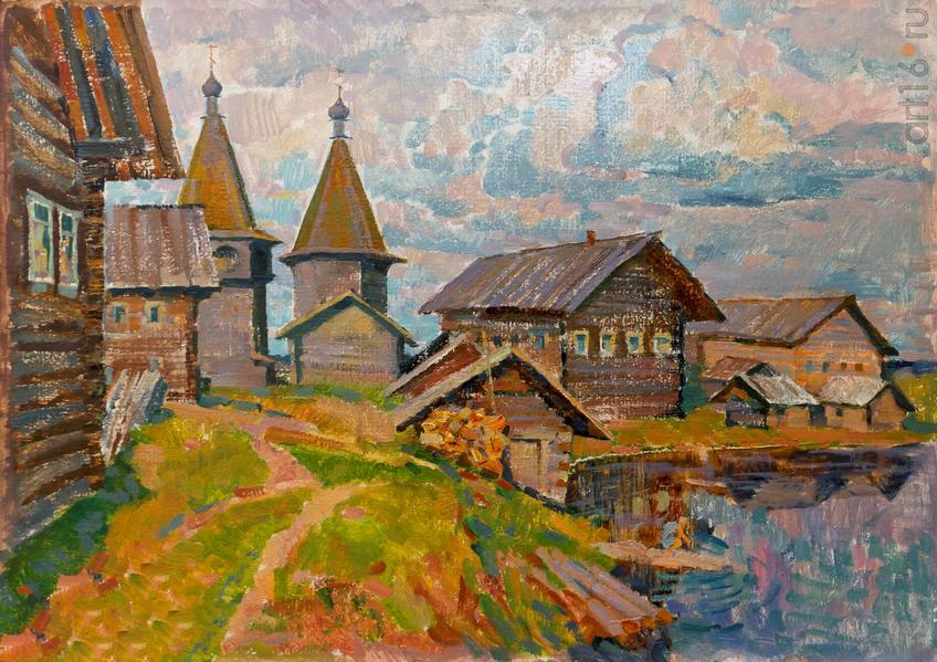 Фото №919236. Рашид САГАДЕЕВ Архангельск, 1960. «Ощевенск». 1998, х.м., 50x70